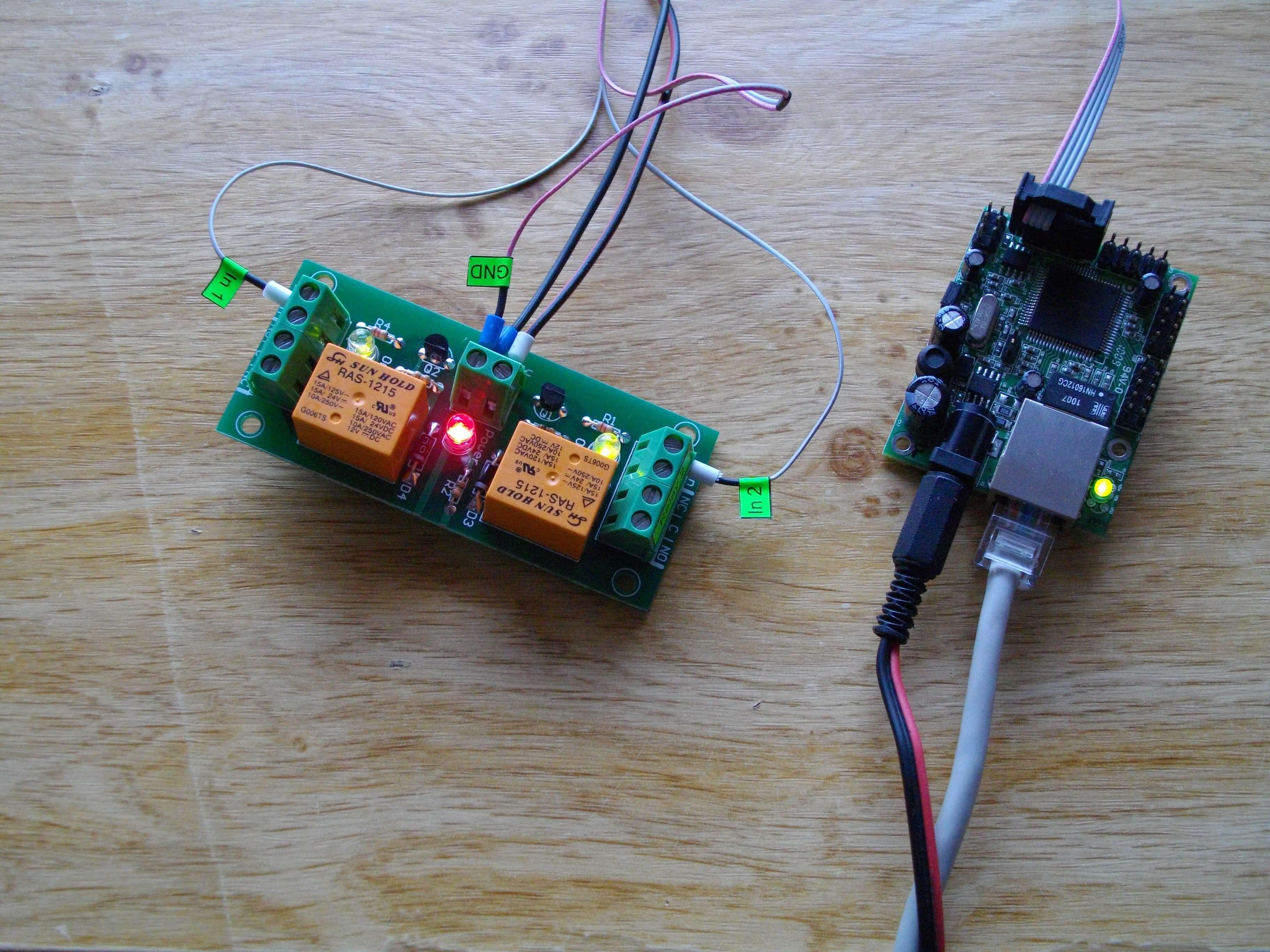 DAEnetIP2 and Relay Board