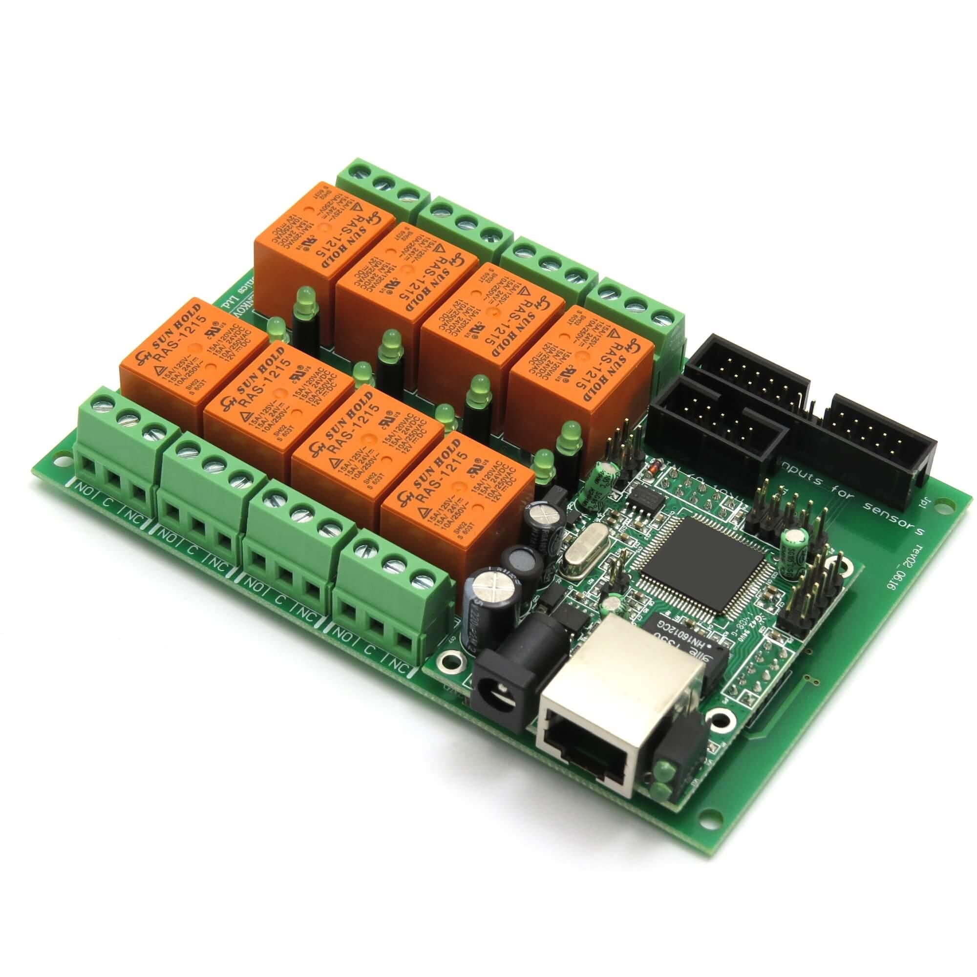 Ethernet Relay controller module WEB server IP   Temperature sensor  #C04D00