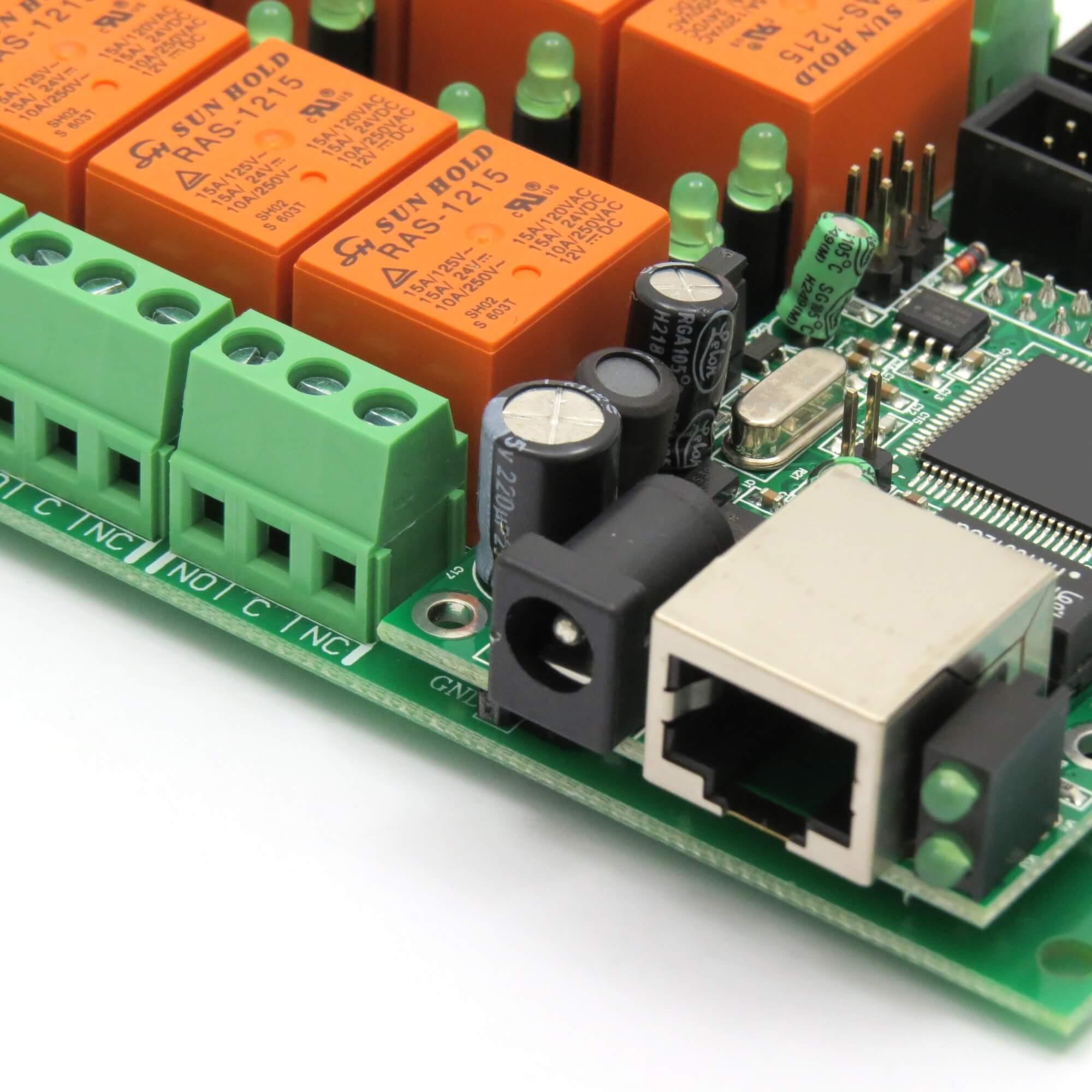 Ethernet Relay controller module WEB server IP   Temperature sensor  #BE580D