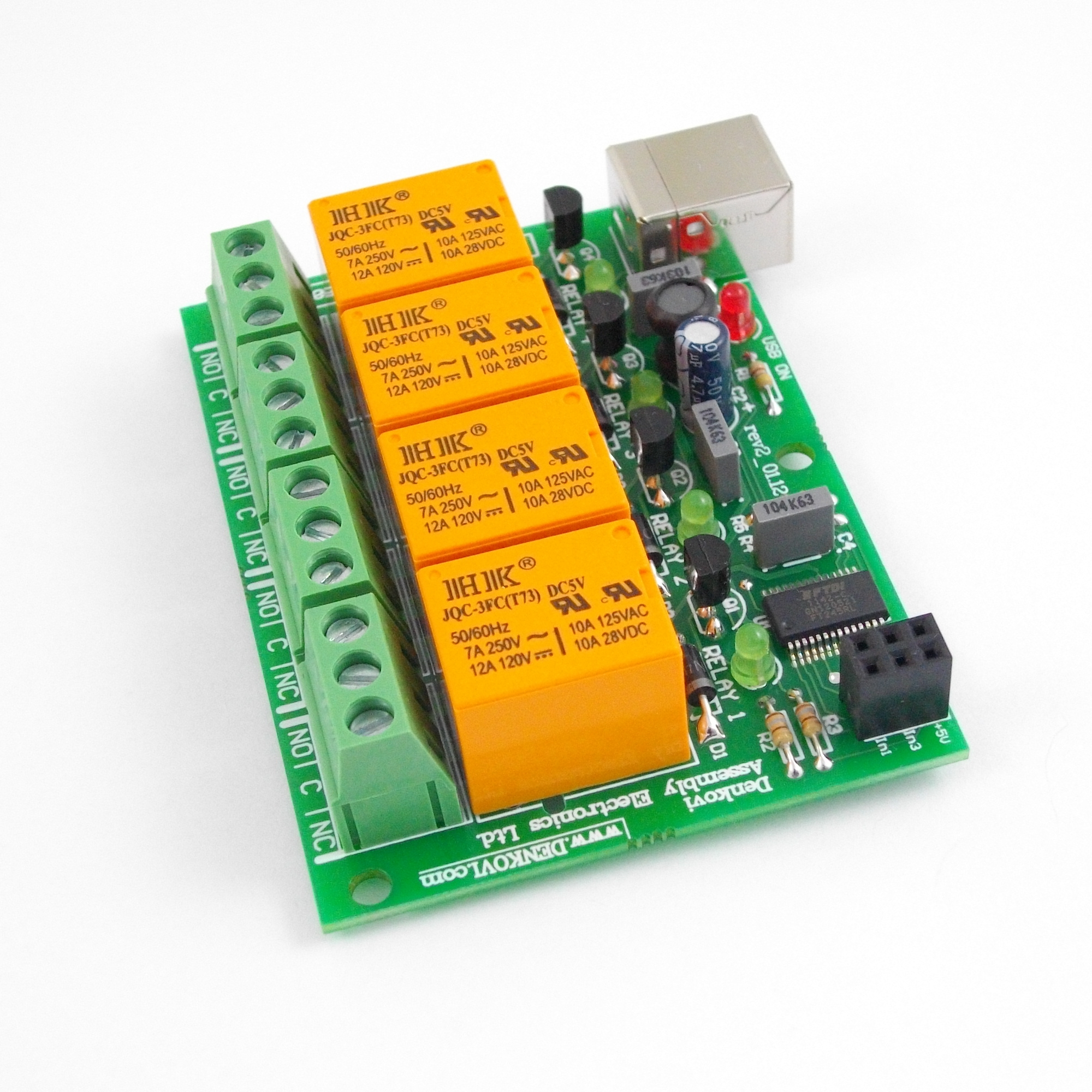 Relay Board Controlled By Usb