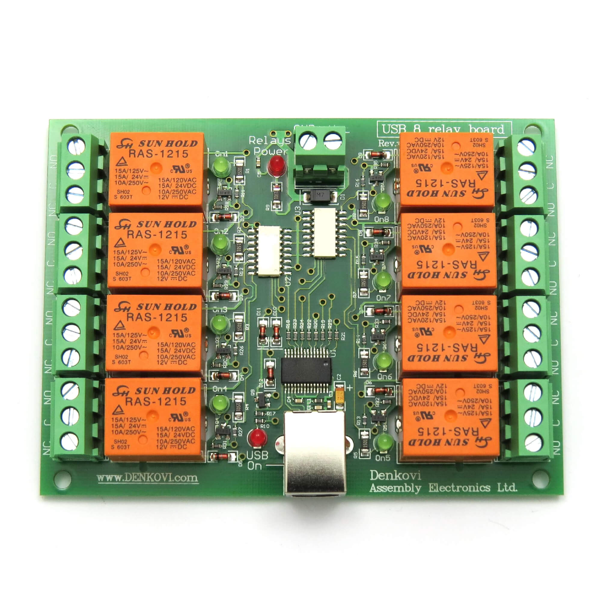 USB  Relay Switch Output Module Board Controller V - 12 volt on off relay