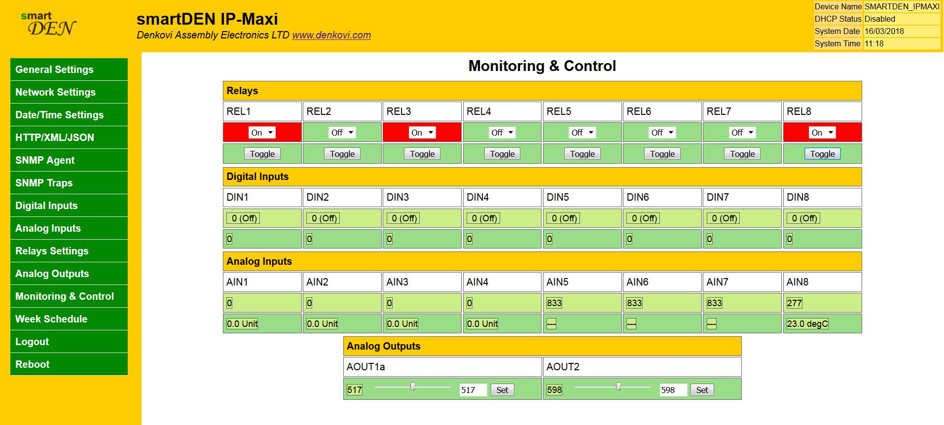 smartden maxi i o relay module snmp http with din rail box