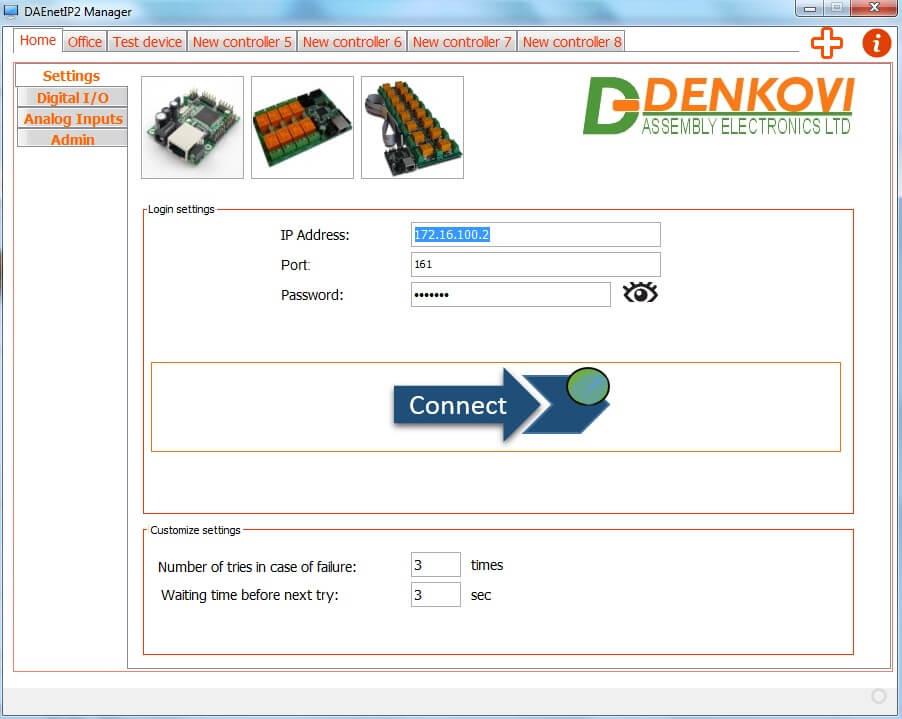 DAEnetIP2 Manager