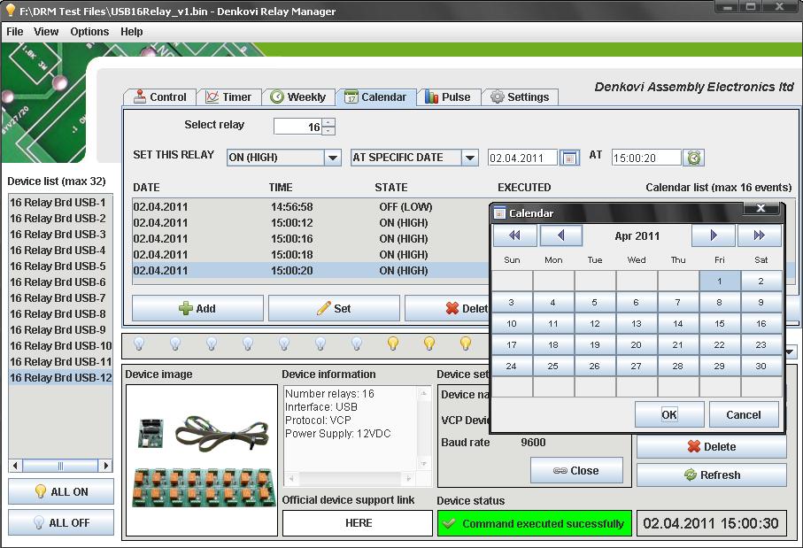USB 16 Channel Relay Board Virtual Com Port, 24V on PopScreen