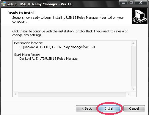 USB 16 Relay Manager