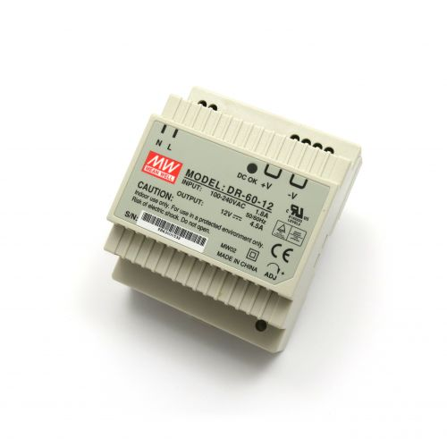 12V/4.5A Industrial DIN Rail Power Supply DR-60-12