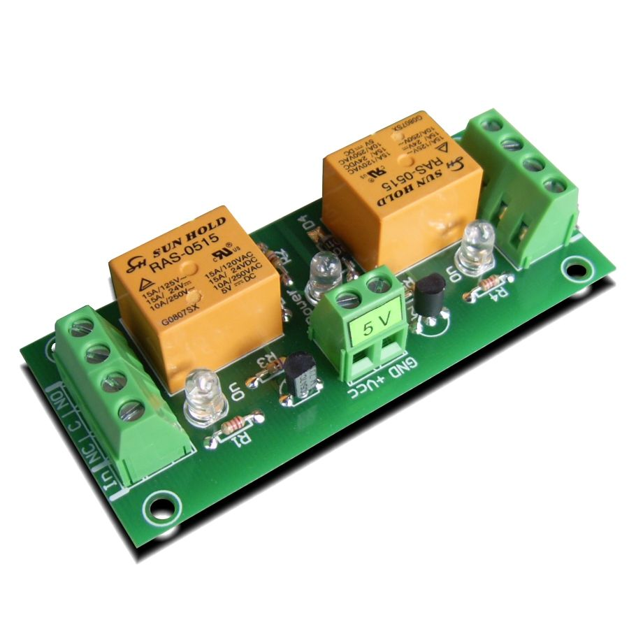 2 Channel relay board for your Arduino or Raspberry PI - 5V