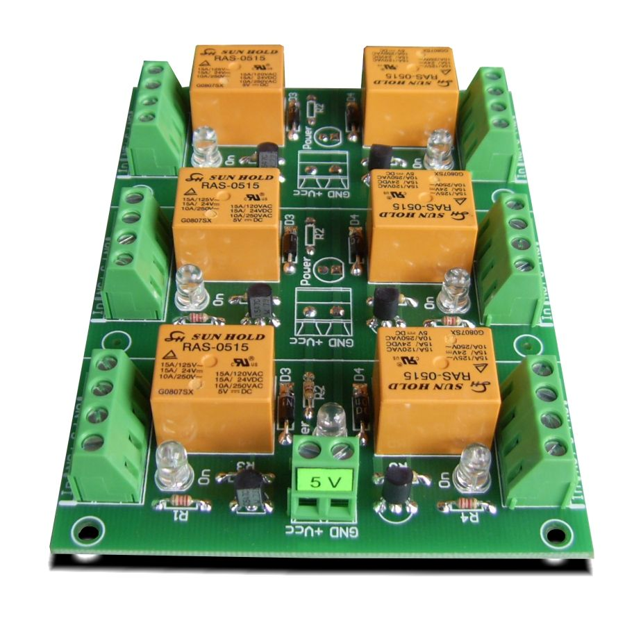 Solid State Relay Board Raspberry Z240d10 Module 5v 6 Channels For Pi Arduino Picavr
