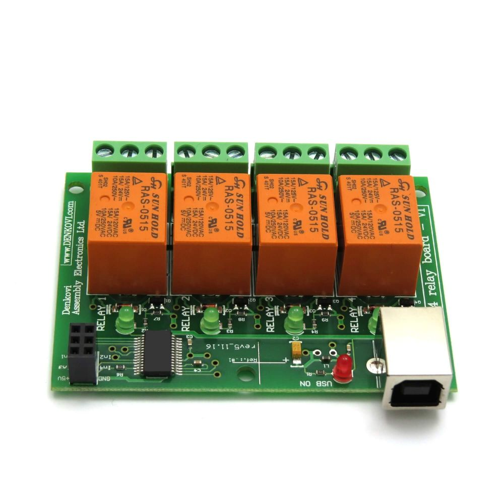 Usb Relay Controller Board 4 Channels For Home Automation Switch Box Four4 Output Moduleboard