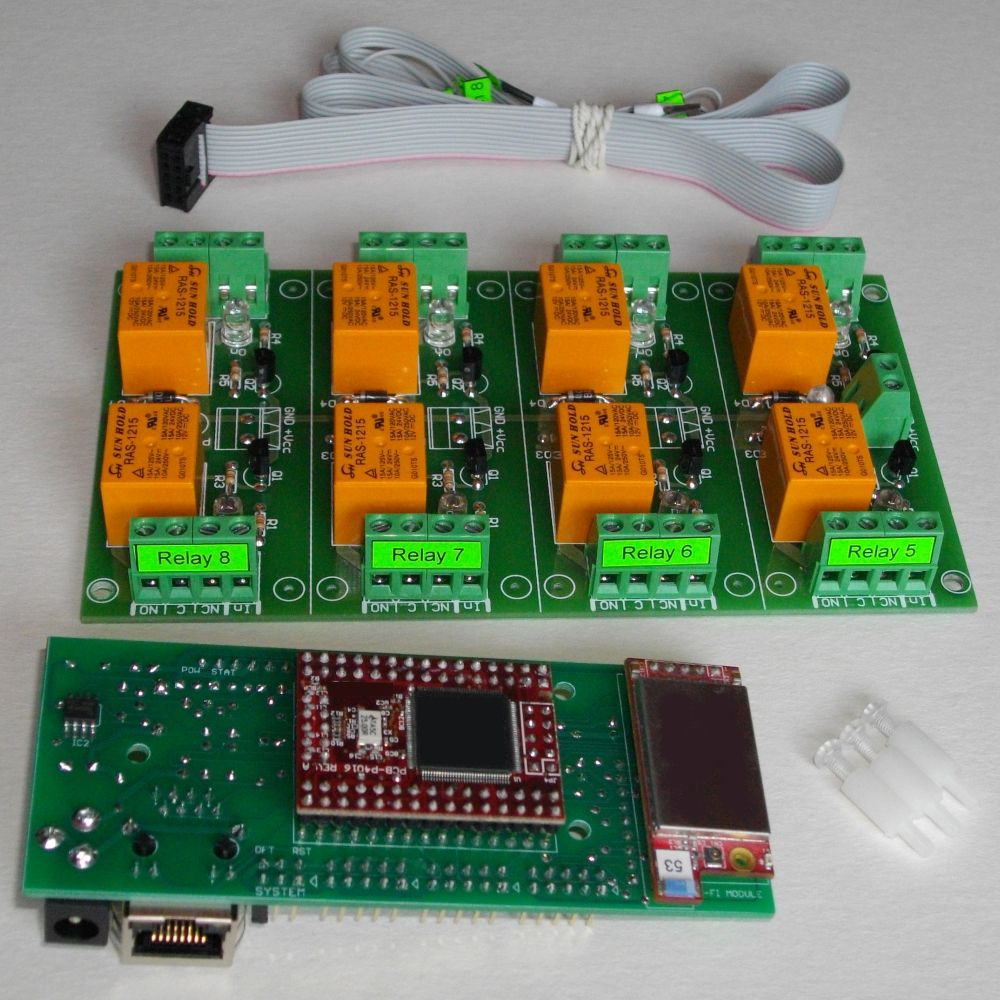 Wi Fi 8 Relay Board Web Tcp Ip Telnet Http Api Smtp In Addition Home Automation On Pcb Circuit Diagram Wireless Channels E Mails