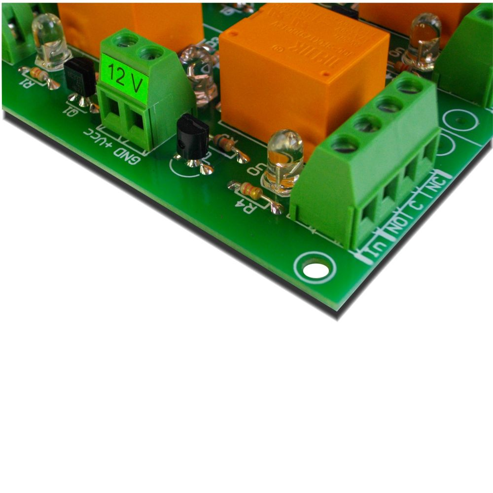 Relay board 12V - 4 channels for Raspberry PI, Arduino, PIC,AVR on wiring a car relay, wiring a relay 240v, wiring a relay base, wiring a relay for accessories,