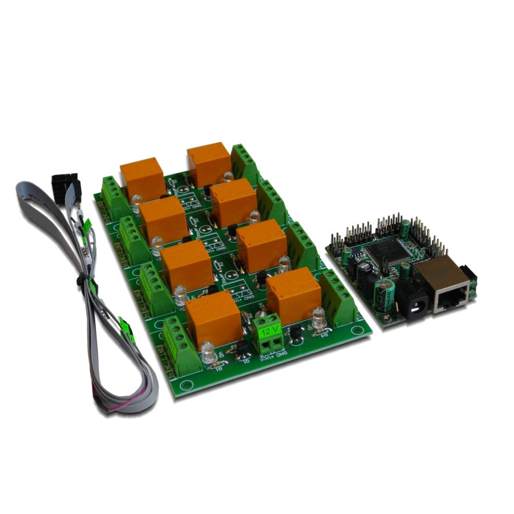 Web Relay Board 8 Channels Snmp Ai Dio With Daenetip2 5 Pin Crossover Controlled V2