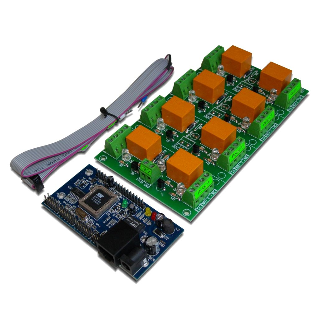 Web Controlled 8 Relay Board Snmp Ai 12 Dio With Daenetip1 12v 400 Ohm Spdt V1