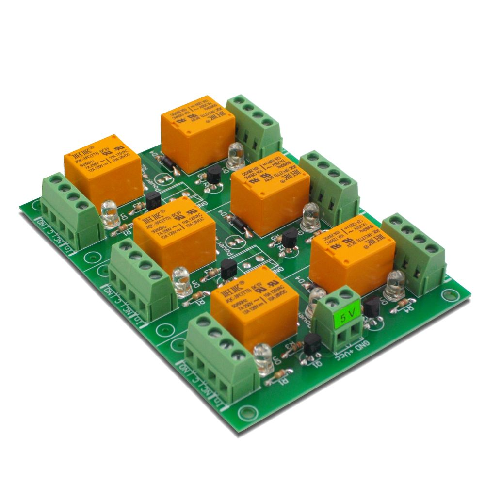 6 Channel Relay Board For Your Arduino Or Raspberry Pi  5v