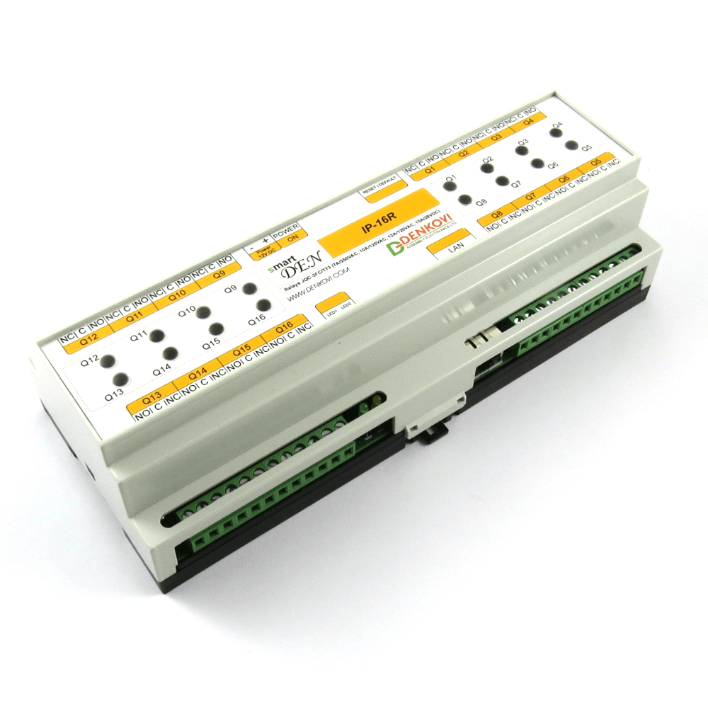 smartDEN IP 16 Relay Web enabled Module with DIN Rail BOX