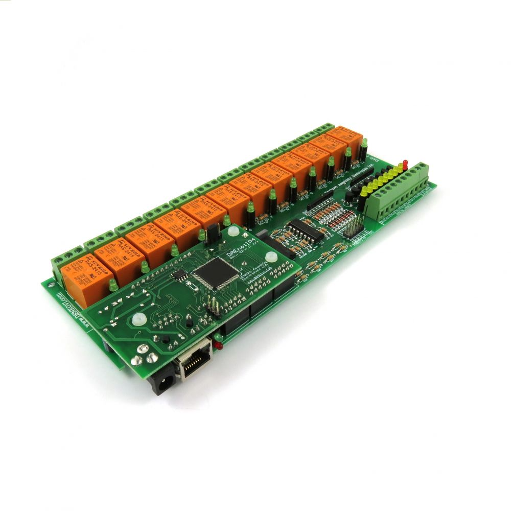 Internet/Ethernet Relay Board 12 Channel with DAEnetIP4 - I/O, SNMP, Web