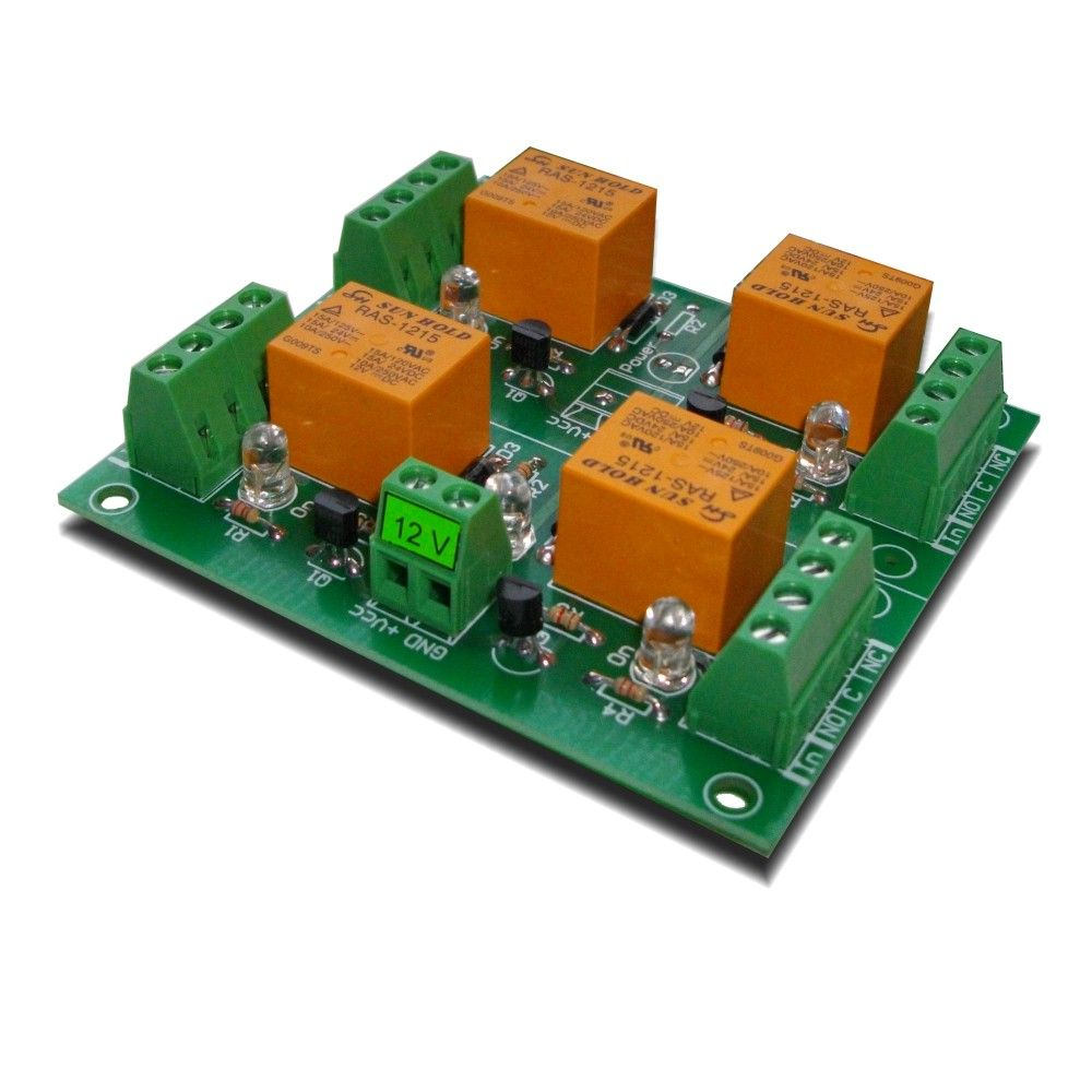 4 Channel relay board for your Arduino or Raspberry PI - 12V