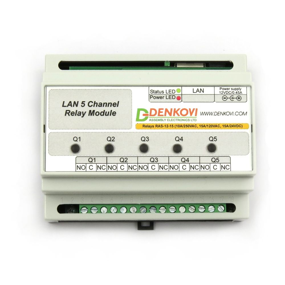 Ethernet Relay Card 5 Channels Snmp Http Xml Real Time Clock Electrical With Timers Din Box