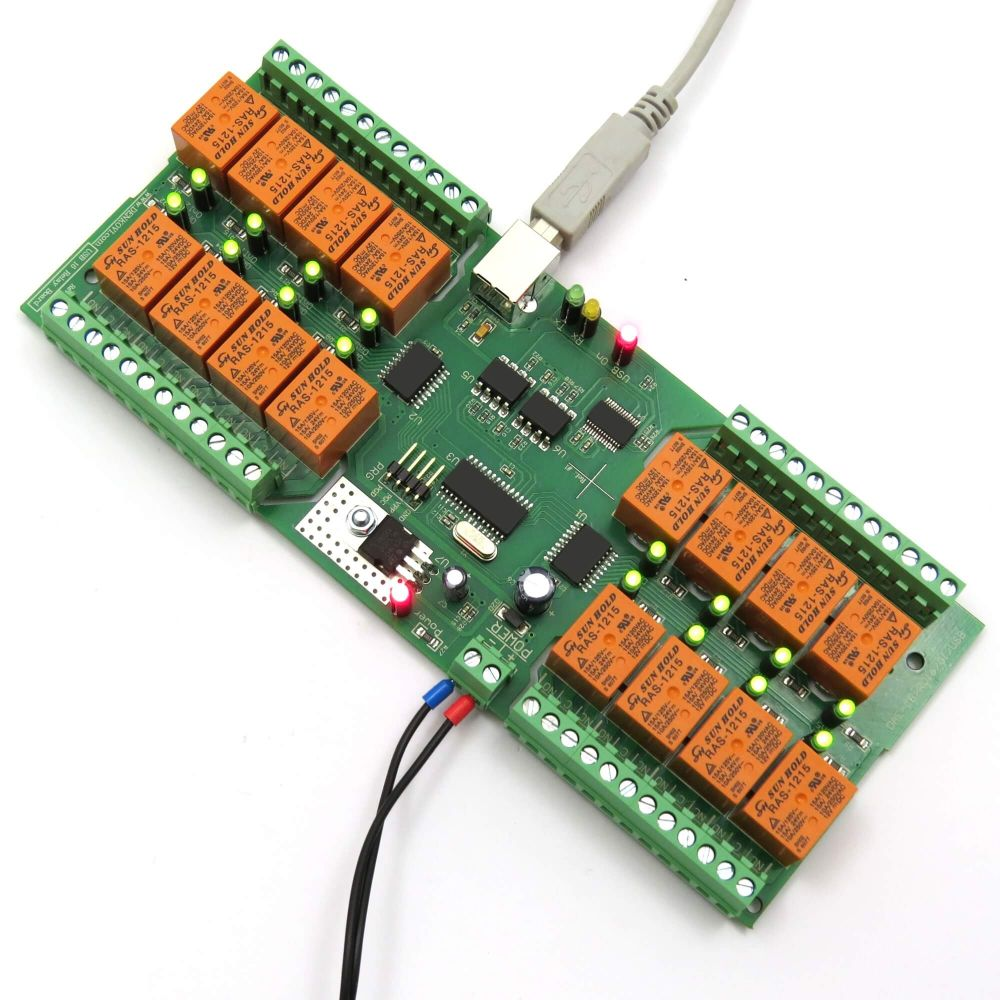 Usb 16 Channel Relay Module Rs232 Controlled Serial Port Pic Programmer Board For Automation Virtual Com