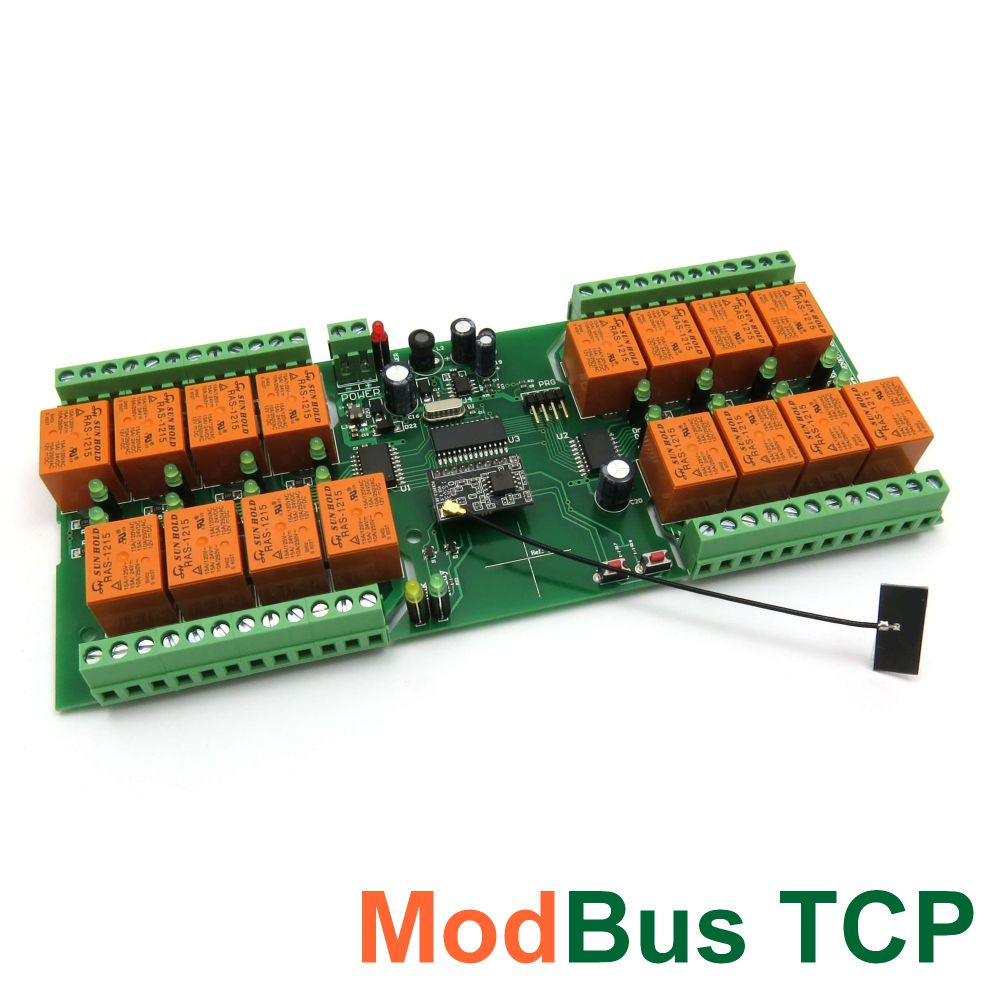 Wi Fi 16 Relay Board Pcb Modbus Tcp Timers Denkovi A