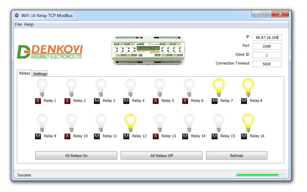 Wi-Fi 16 Relay Board PCB - ModBus TCP, Timers