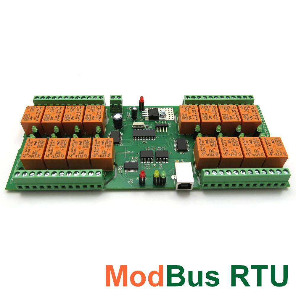 Usb 16 Relay Board Pcb Modbus Rtu Timers Denkovi A E Ltd Holding Current