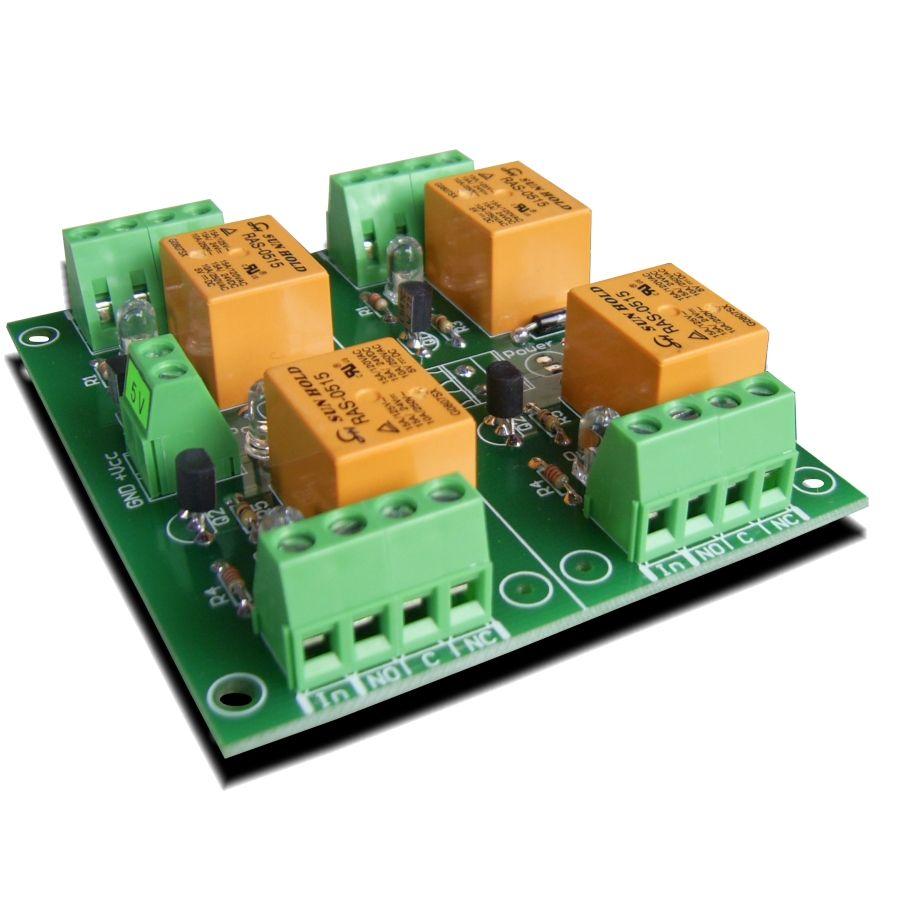 Relay module 5V - 4 channels for Raspberry PI, Arduino ...