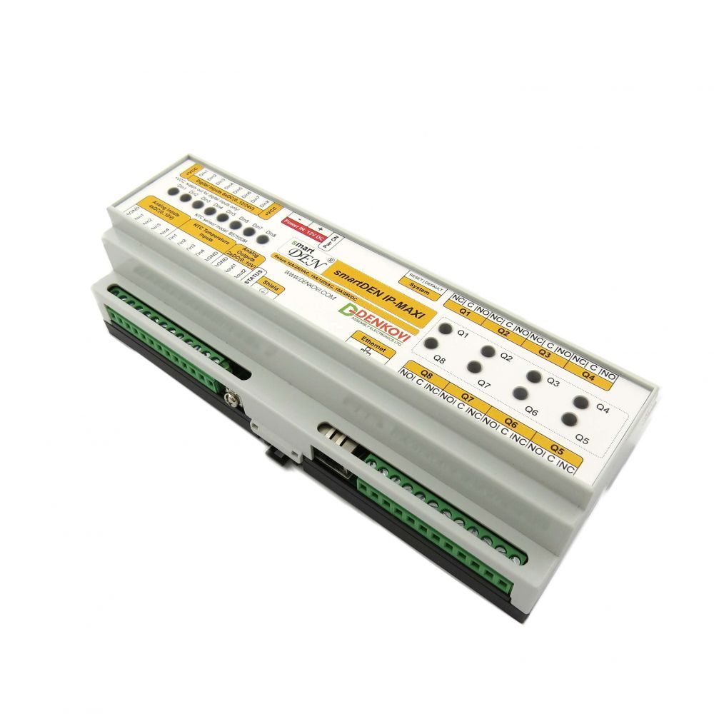 Smartden Maxi I O Relay Module Snmp Http With Din Rail Box The Polarity Control Is Switched Off When Q1 Covered By