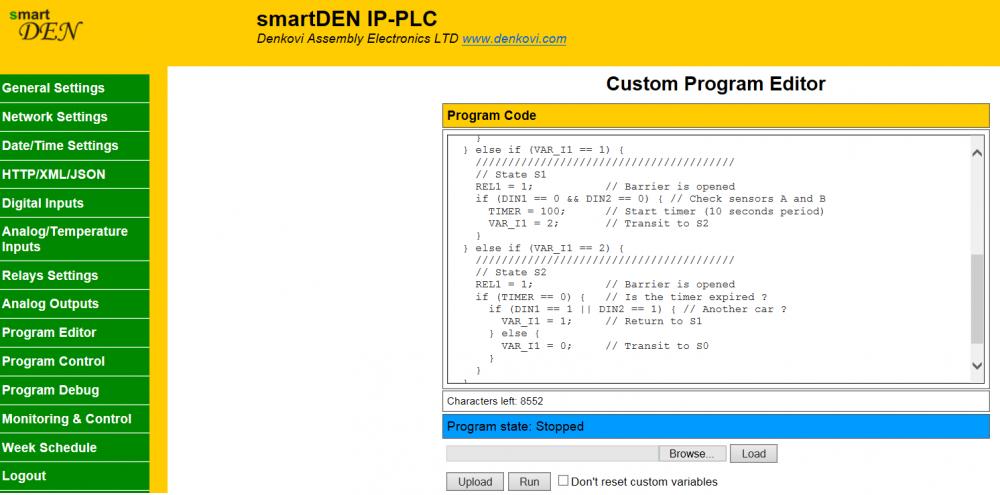 smartDEN IP-PLC - Ethernet I/O Relay Programmable Logic