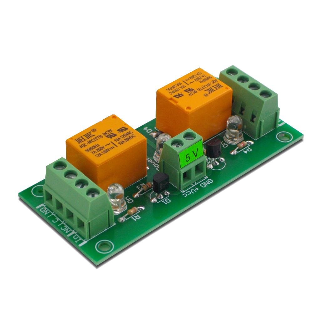 2 Channel relay board for your Arduino or Raspberry PI - 5V on