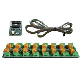USB 16 Channel Relay Module - RS232 Controlled, 24V