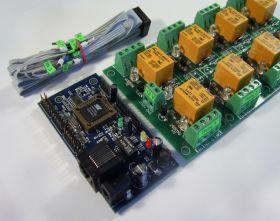 Internet/Ethernet 8 Channel Relay Board v1 - IP, SNMP, Web