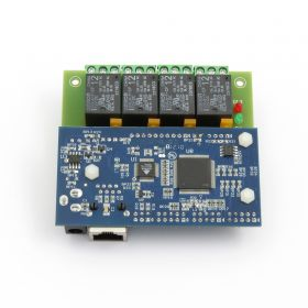 Internet/Ethernet Four(4) Channel Relay Module, Board - IP, Web, SNMP
