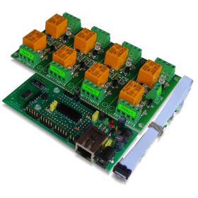 IP Relay Board 8 Channels - Web, TCP/IP, Telnet, HTTP API, E-mails