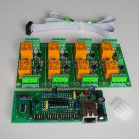 Internet/Ethernet 8 Channel Relay Board - Web, TCP/IP, Telnet, HTTP API, E-mails