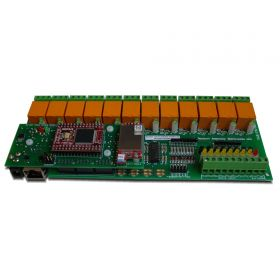 Wi-Fi Wireless 12 Channel Relay I/O Module - Web, TCP/IP, Telnet, HTTP API, E-mails