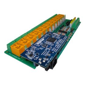 Internet/Ethernet 12 Channel I/O Relay Module (Board) - IP, SNMP, Web