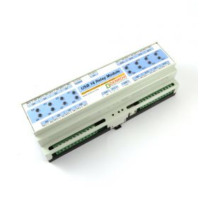 USB 16 Channel Relay Module - RS232 Controlled - BOX