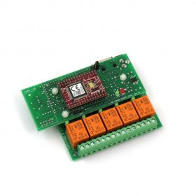 Ethernet Relay Card 5 Channel with DAEnetIP3 - TCP/IP, HTTP API, RTC