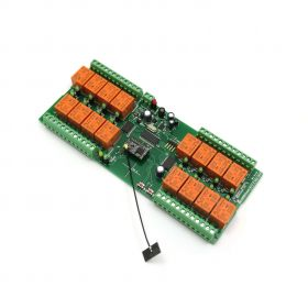WiFi 16 Relay Module, TCP/IP, UDP, Virtual Serial Port - PCB