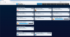 smartDEN Maxi - I/O Relay Module SNMP, HTTP with DIN RAIL BOX