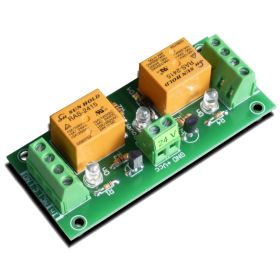 2 Channel relay board for your Arduino or Raspberry PI - 24V