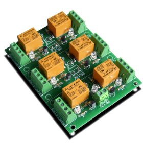 6 Relay Way Output Module (Board) for your PIC, AVR Project - 24V