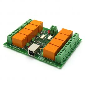 USB Eight Channel Relay Board for Automation - 12V