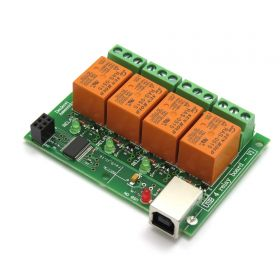 USB Four(4) Relay Output Module,Board for Home Automation
