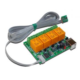 USB 4 Relay module - thermoregulator with sensor TCN75A