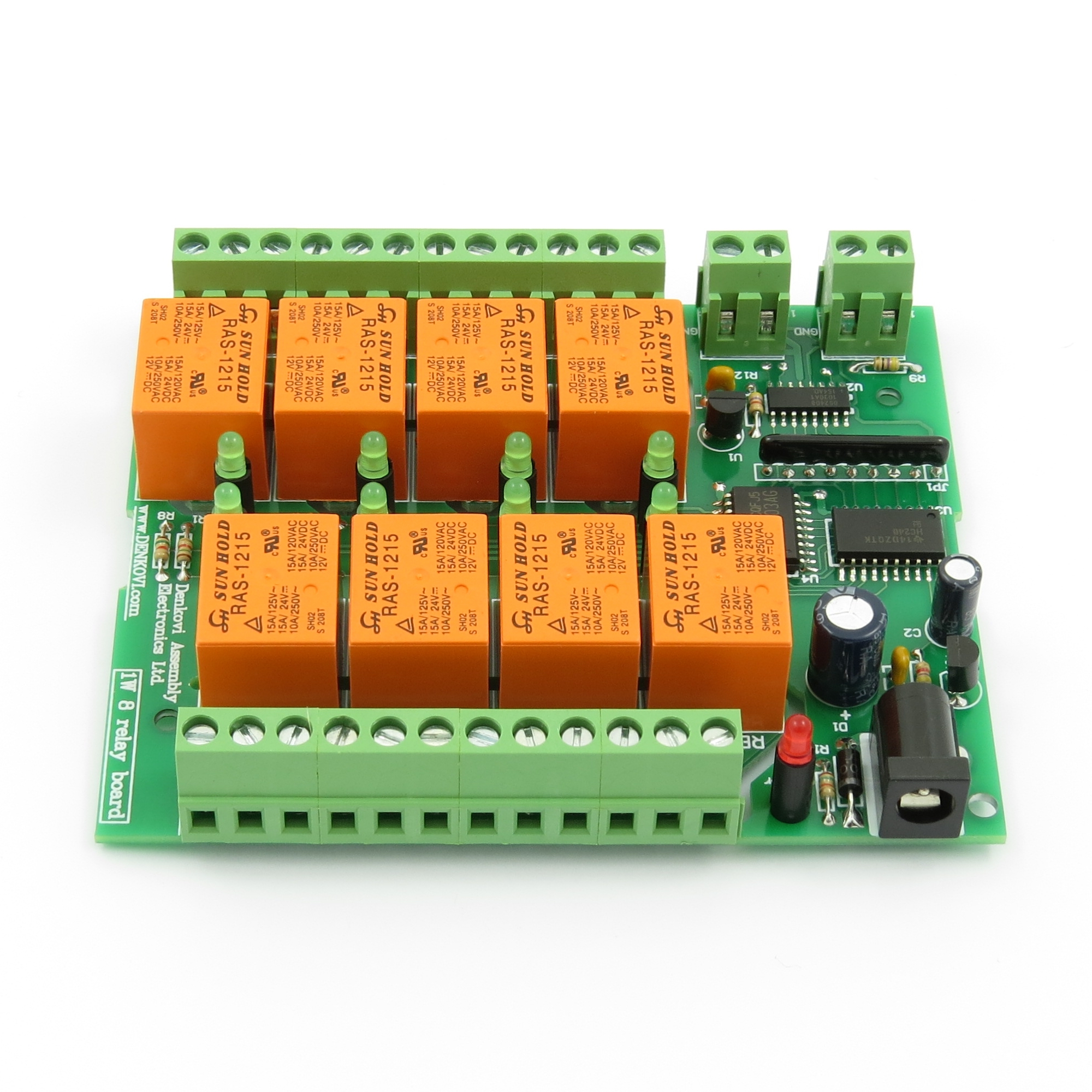 1 Wire 8 Channel Relay Module Board Based On Dallas Ds2408 Chipset Wiring A Denkovi