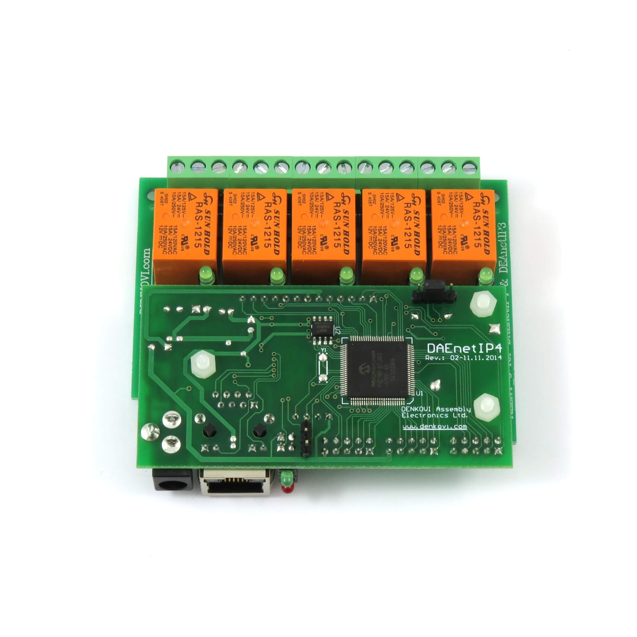 Details about Web controlled I/O ADC 5 relay output board: IP, MAC, PING,  JAVA, LABVIEW