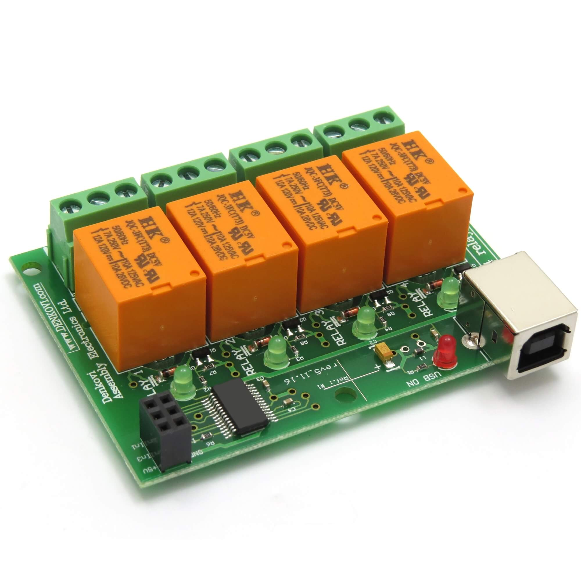 Details about USB Relay Board - Four(4) Channels, for Home Automation  JQC-3FC/T7 DC5V