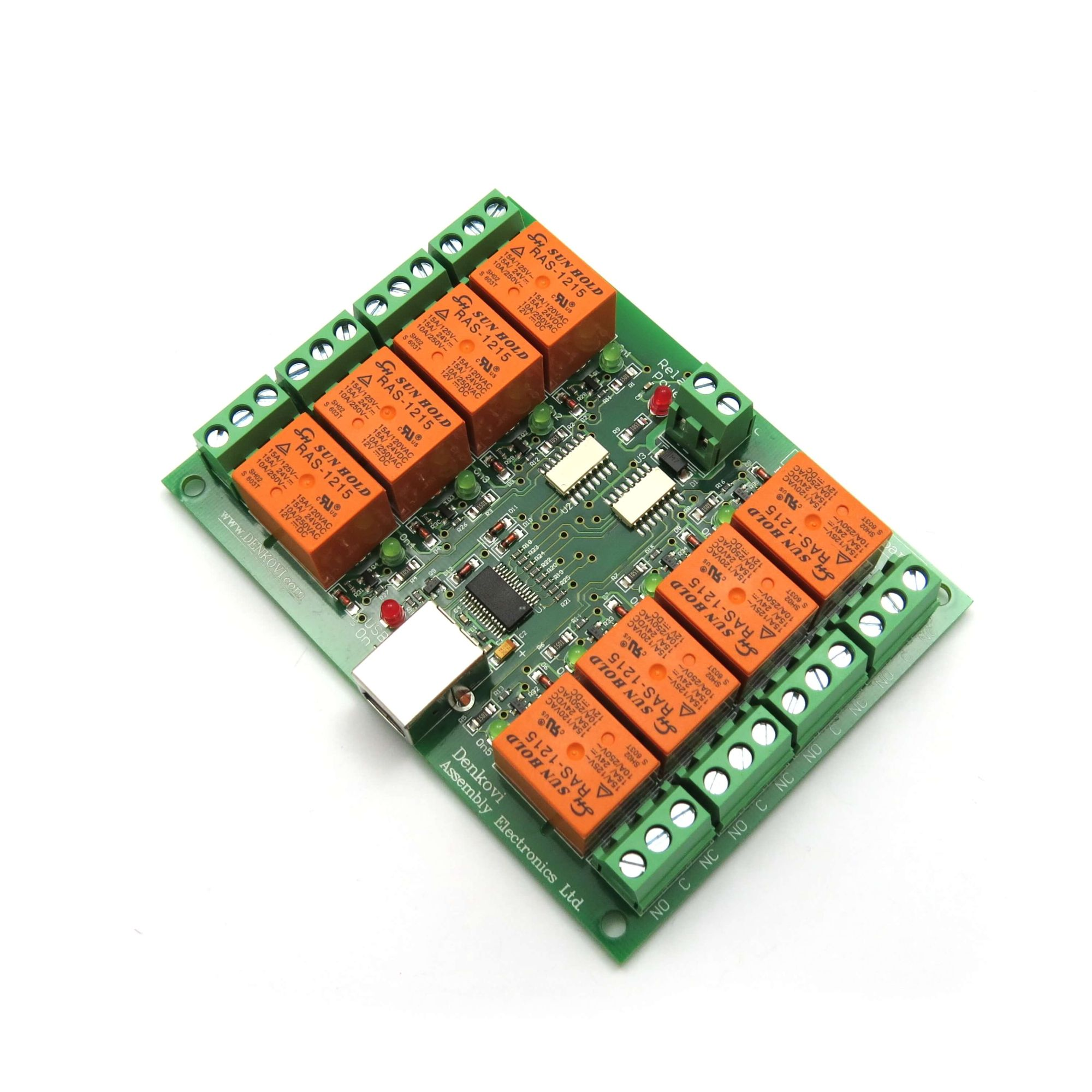 Details about USB Eight Channel Relay Board for Automations - 12V